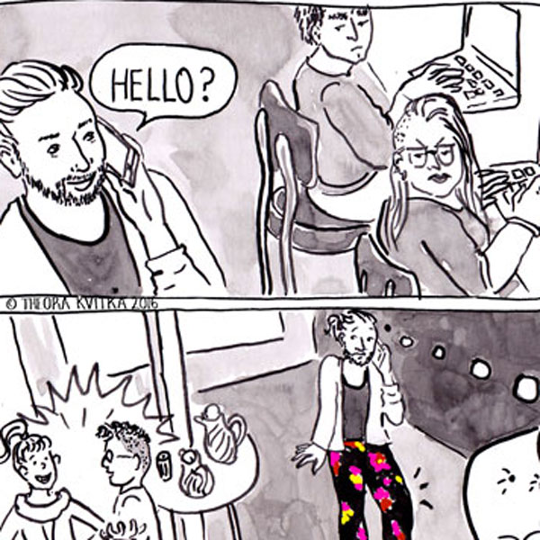 Coffee Shop Pants Comic