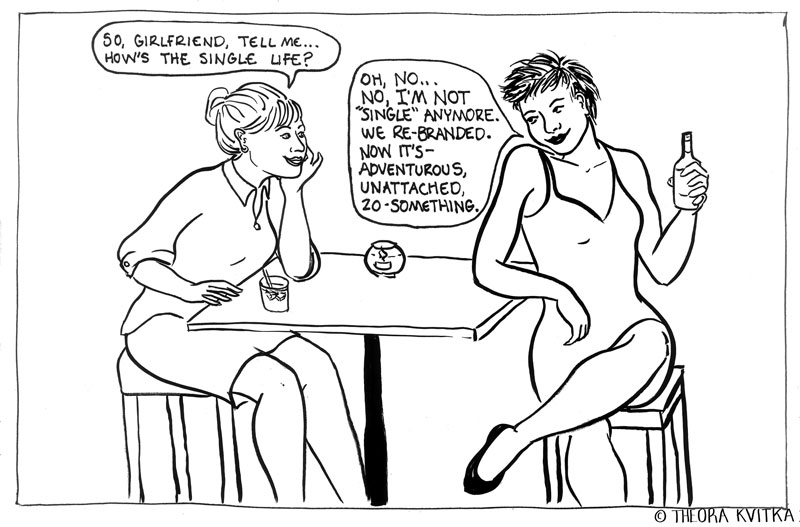 comic of two women at a bar