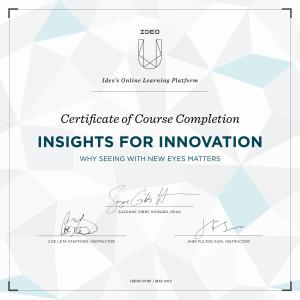 IDEOU certificate