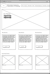 a website wireframe