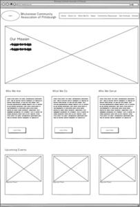 a website wireframe