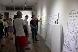 photographs from opening night at the gallery
